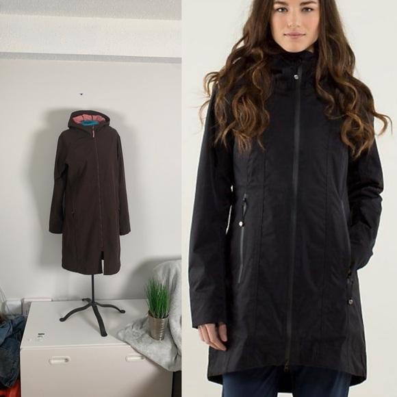 Lululemon brown rain coat sz 10